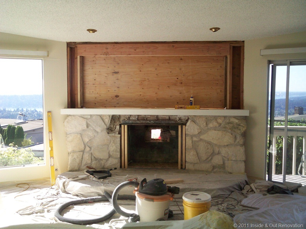 Fireplace Remodel That Lets in the View Inside Out Renovation