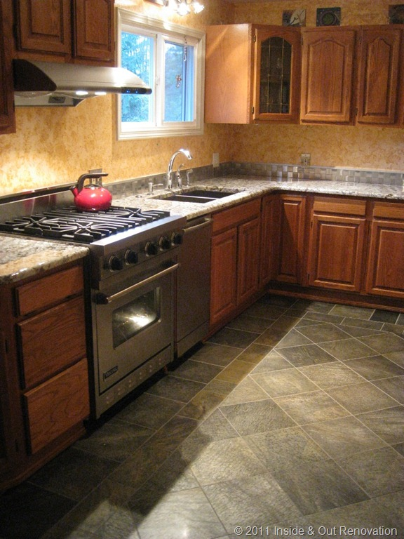 Redmond Granite Countertop And Warm Floor Inside Out Renovation